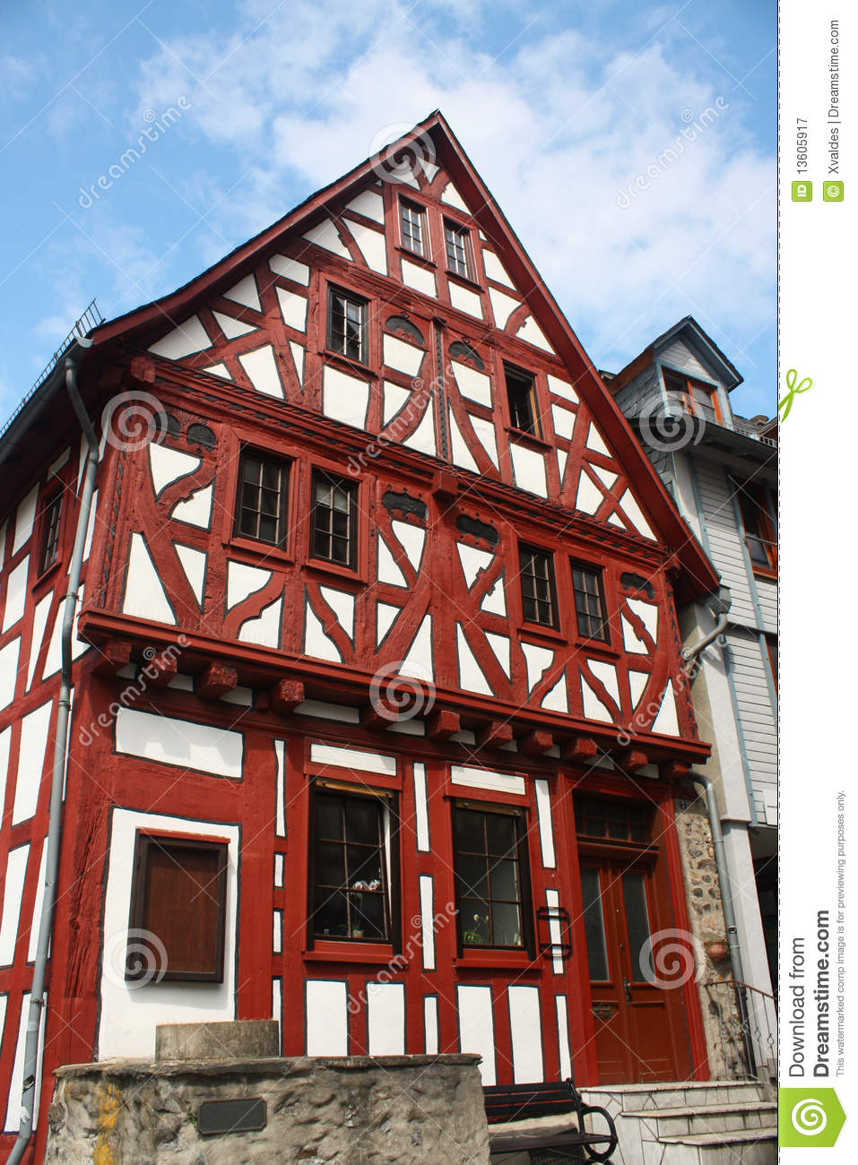 German House Designs: Old House In Germany Royalty Free Stock Photography