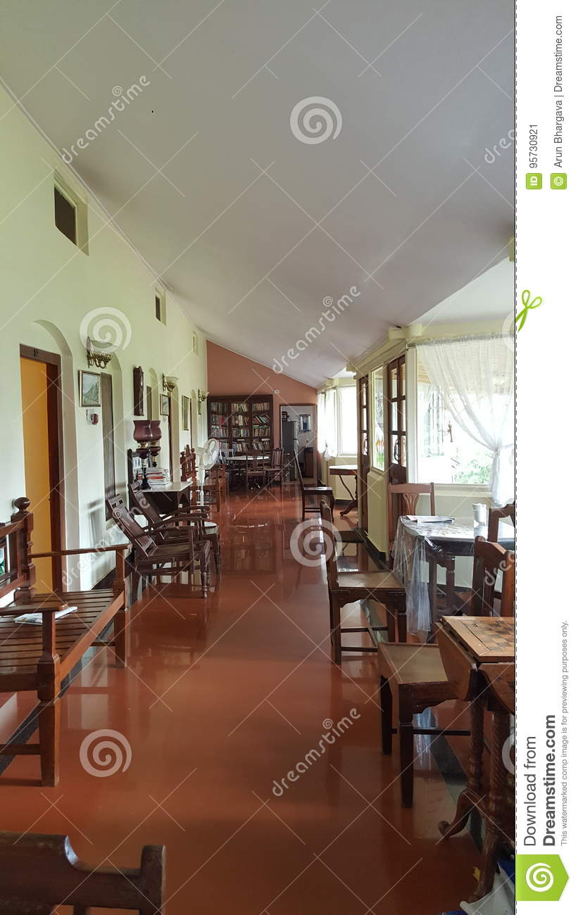 Inside Decoration Architecture And Old Furniture Of A Heritage Residential  House Structure