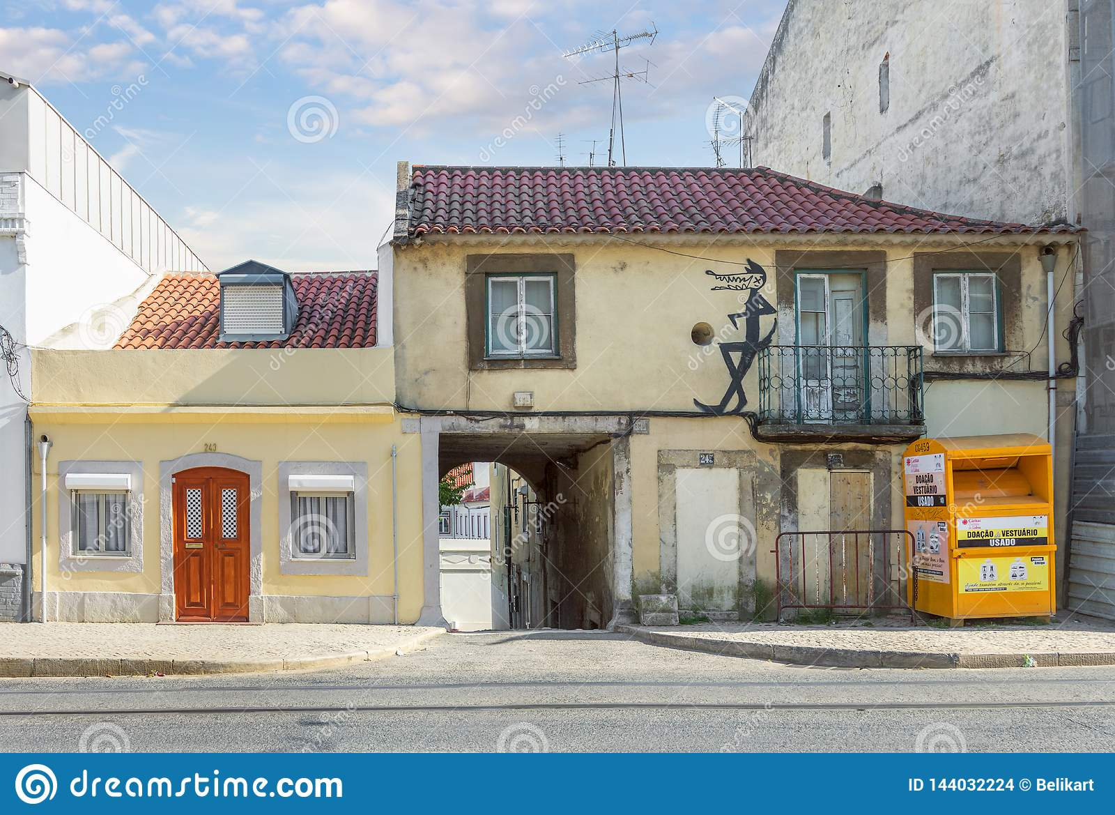 Old house in Lisbon. Portugal