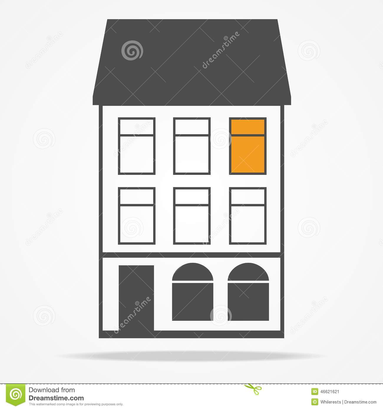 Old house with mansard roofs stock image image 46621621 for Classic house facade design