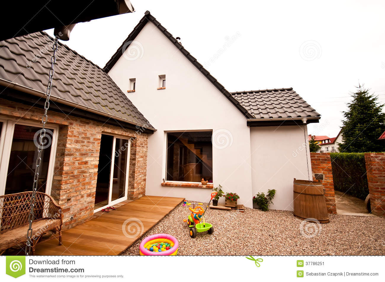 Old House New Design Architecture Stock Image Image