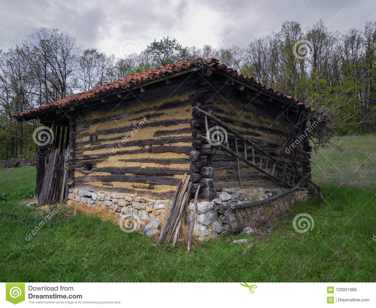 Old house for sheeps in the Serbian village