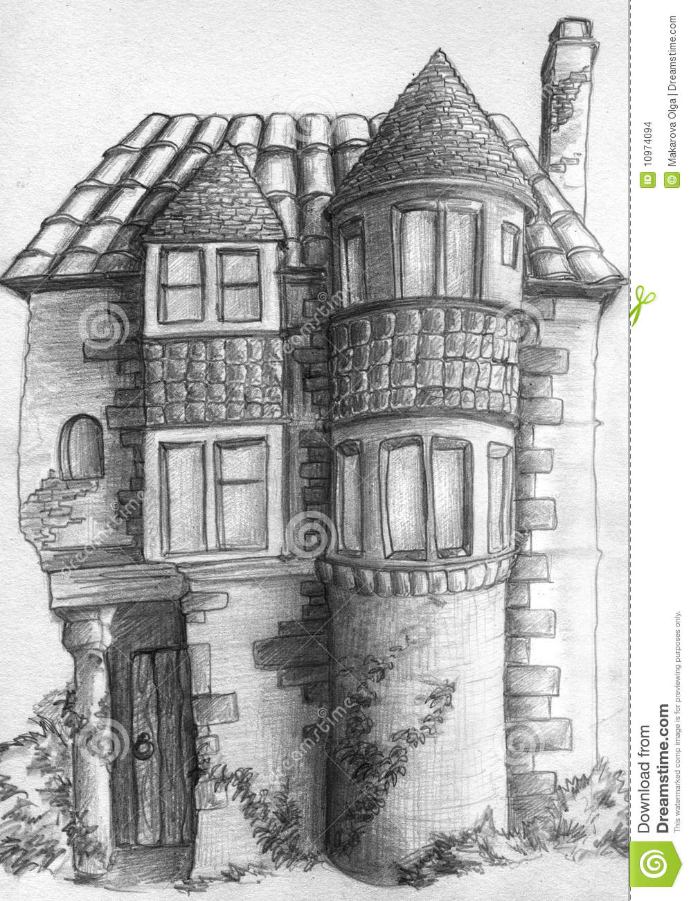 Old house sketch stock images image 10974094