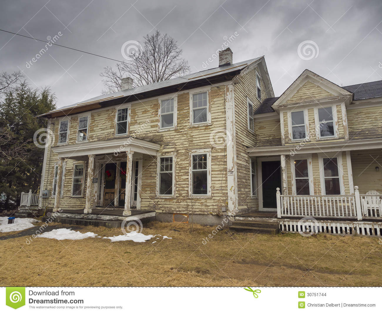 Old house stripped of paint stock photo image 30751744 for Classic house painting
