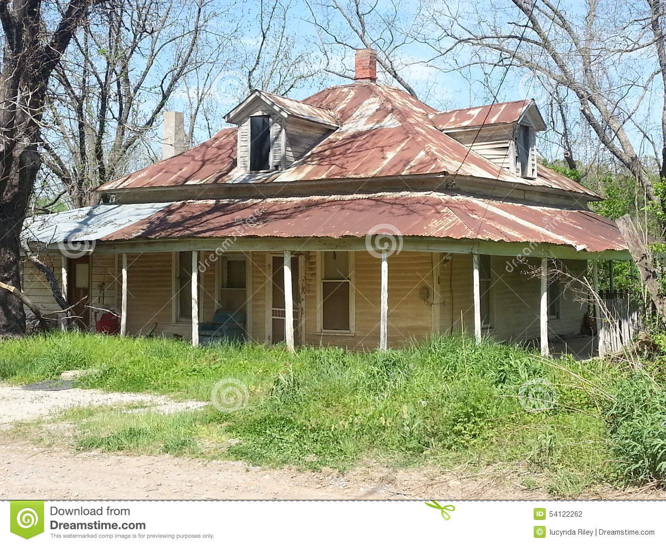 Old House With A Tin Roof Stock Photo Image Of World