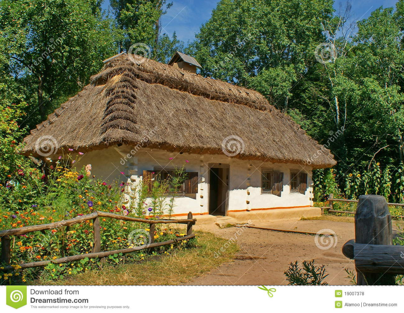 Shed Roof Old House In The Village Of Ukraine Stock Photo Image