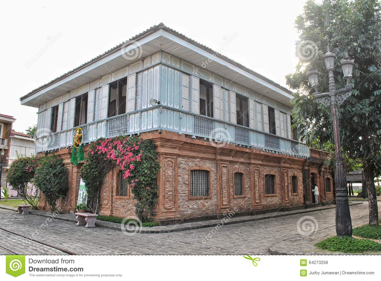 Old House Of A Wealthy Family In The Philippines During