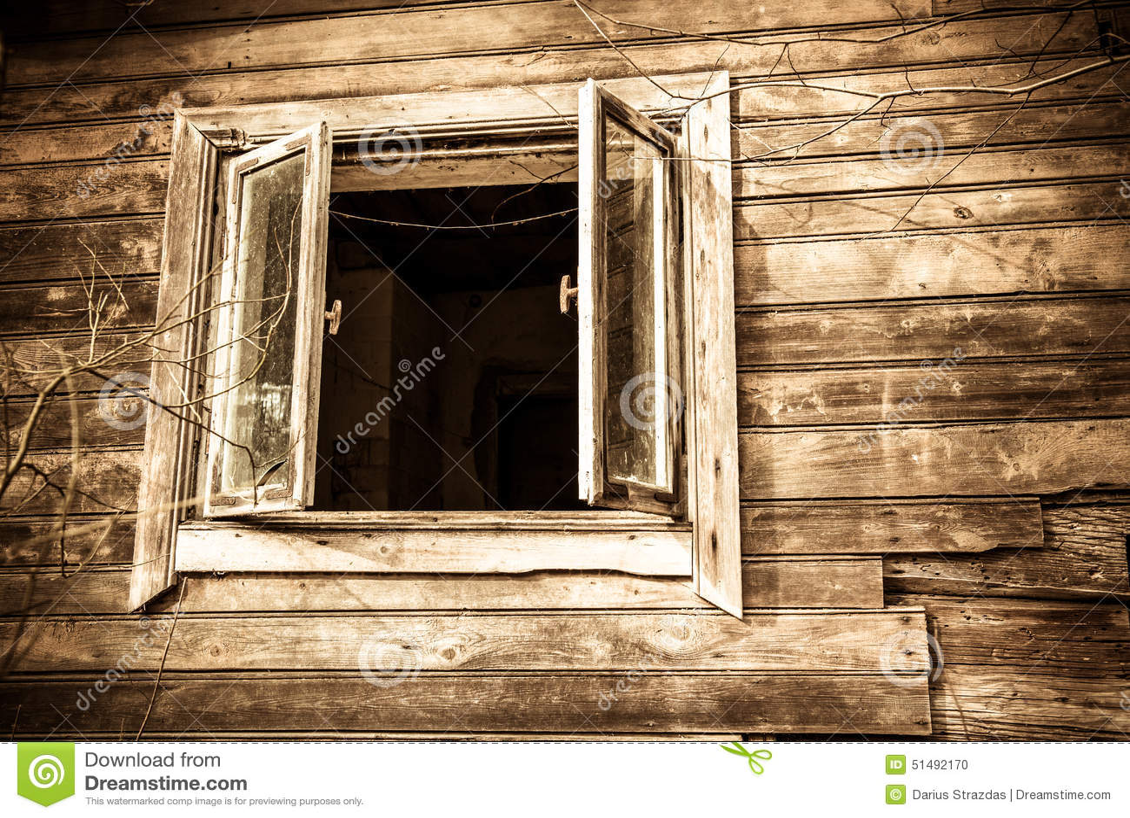 House window images - Old House Window Stock Photo