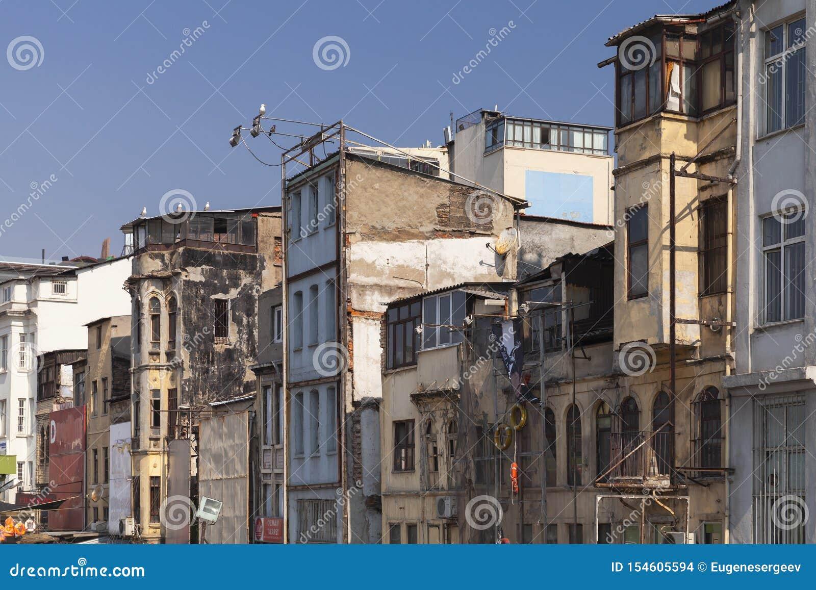 Old houses of Karakoy, Istanbul, Turkey