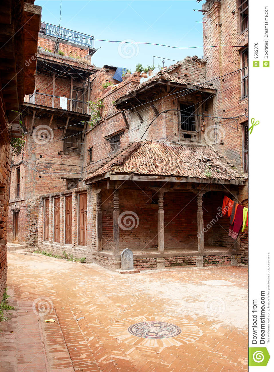 All Road Signs >> Old Houses In Kathmandu, Nepal Stock Photo - Image of ...