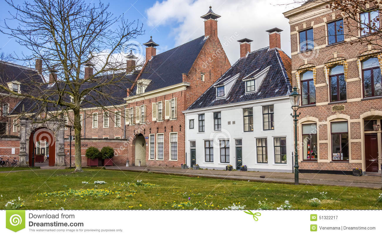 Old Houses At The Martinihof In Groningen Stock Image Image Of