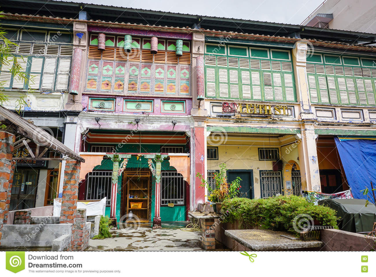 Old houses at the old town in penang malaysia editorial for Classic house kl