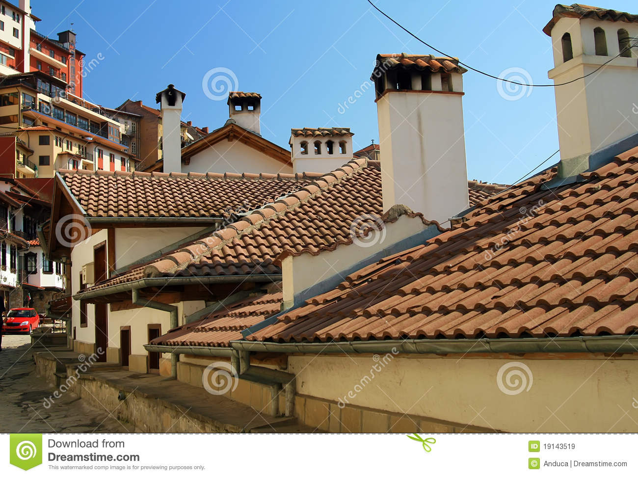Old houses and roofs with ceramic tiles royalty free stock images image 19143519 - Houses with ceramic tile roofing ...