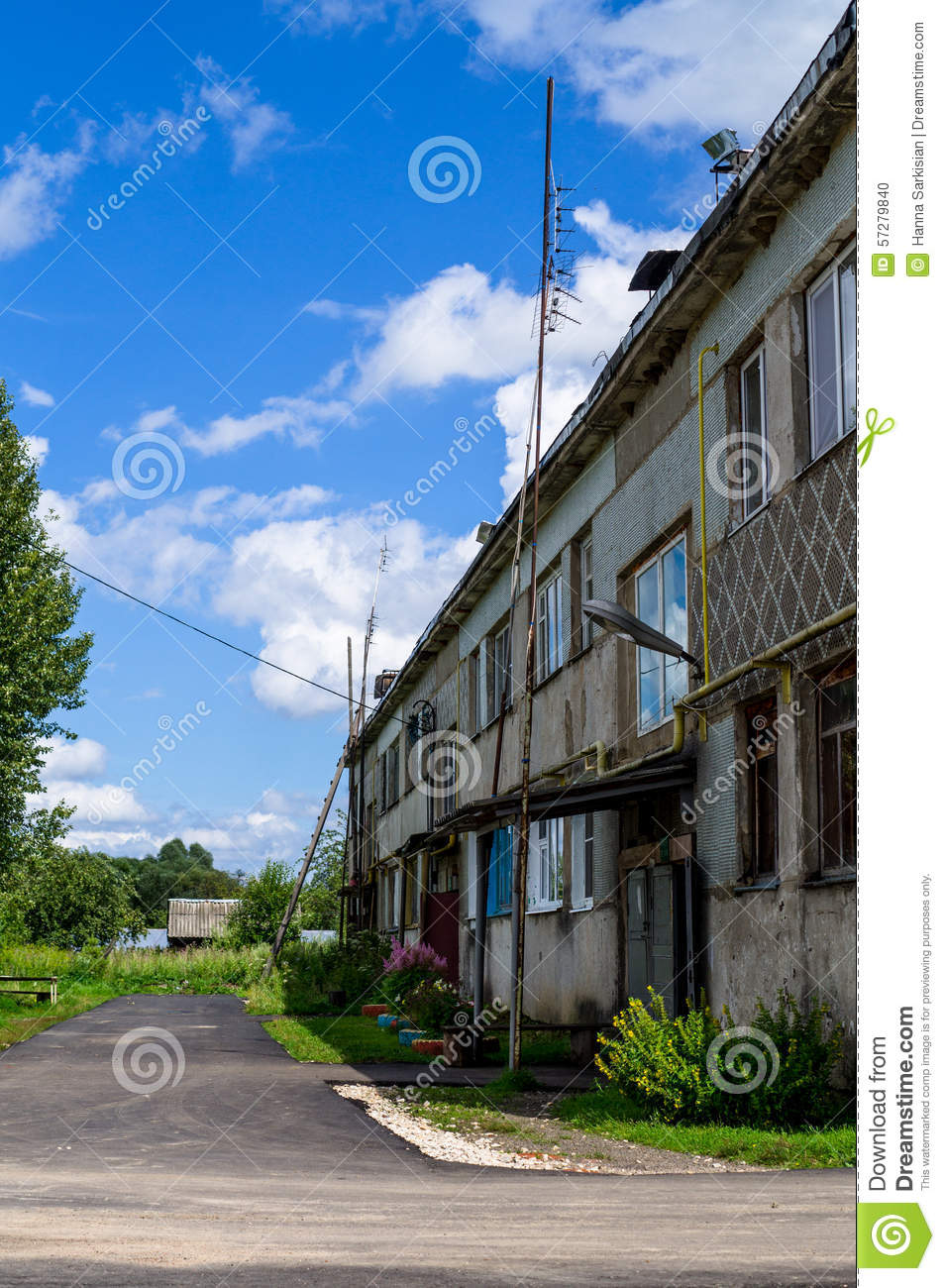 Stock Photo Old Houses In Russia Image 57279840