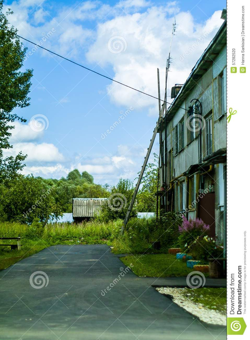 Stock Photo Old Houses In Russia Image 57282520