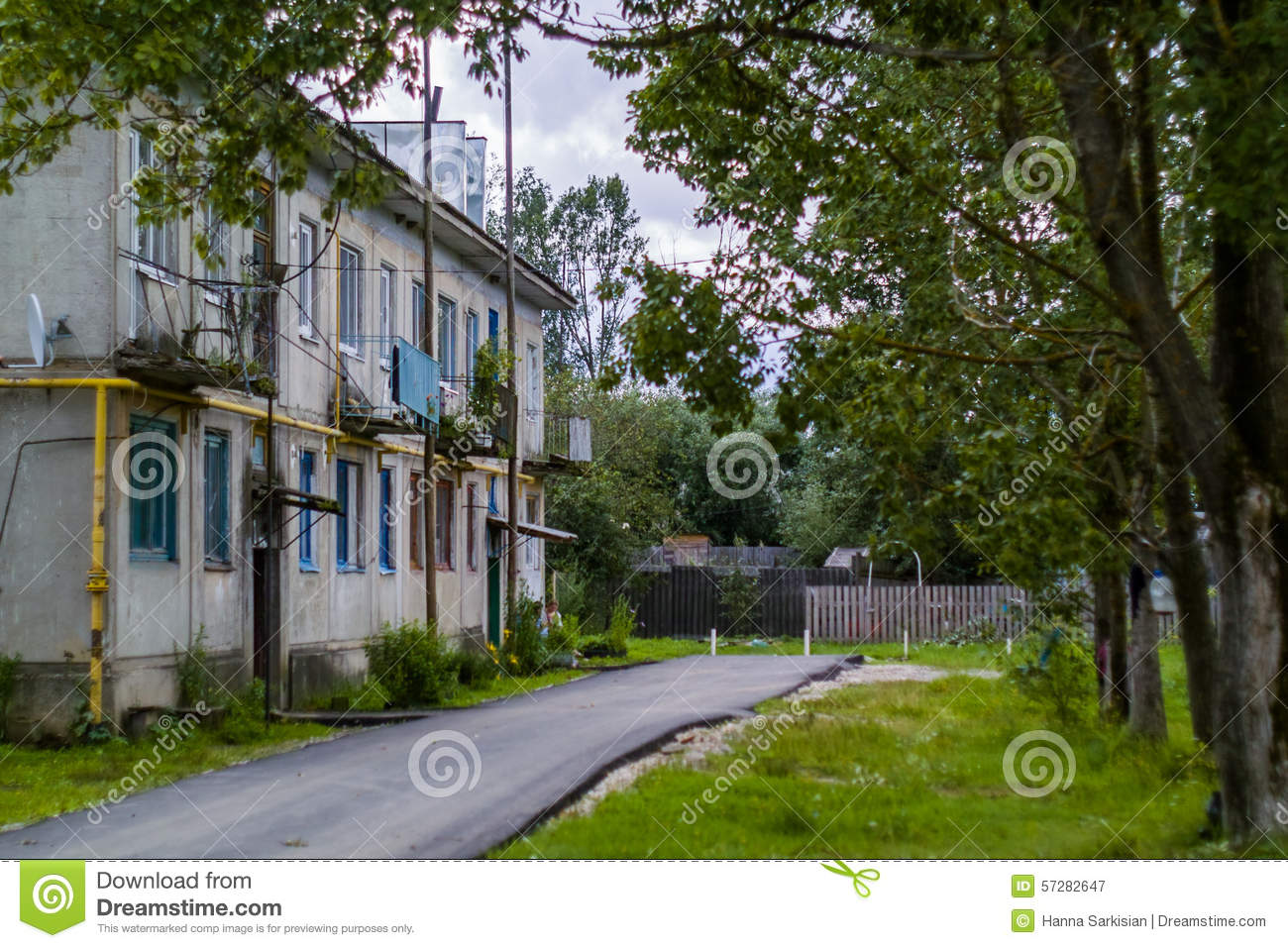 Royalty Free Stock Photography Old Houses In Russia Image 57282647