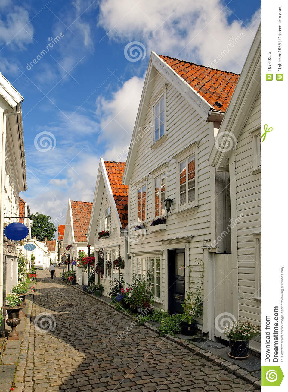 Old Houses In Stavanger Norway Royalty Free Stock Image