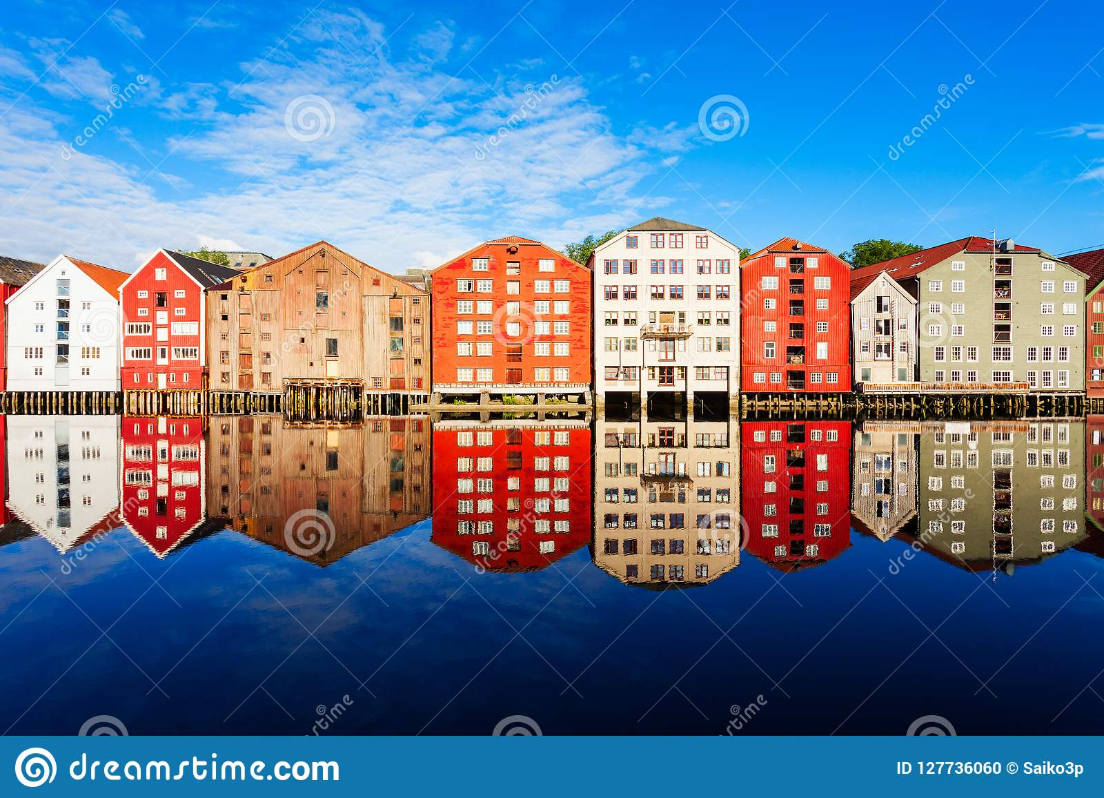 Old houses in Trondheim