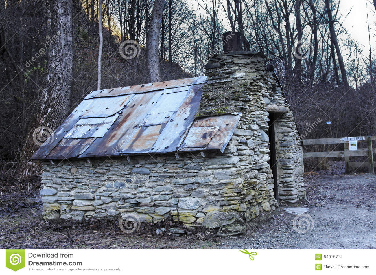 Old Hut In Arrowtown New Zealand Stock Photo Image Of Iron Ruins