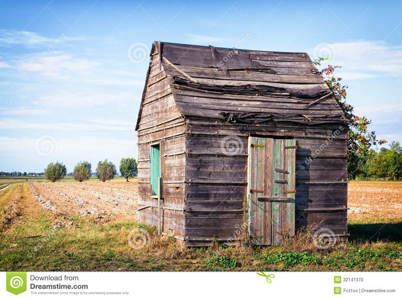 Download Old hut stock photo. Image of non, rural, color, horizon - 32141370