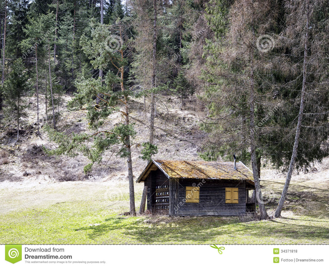 Old Hut Royalty Free Stock Photos Image 34371818