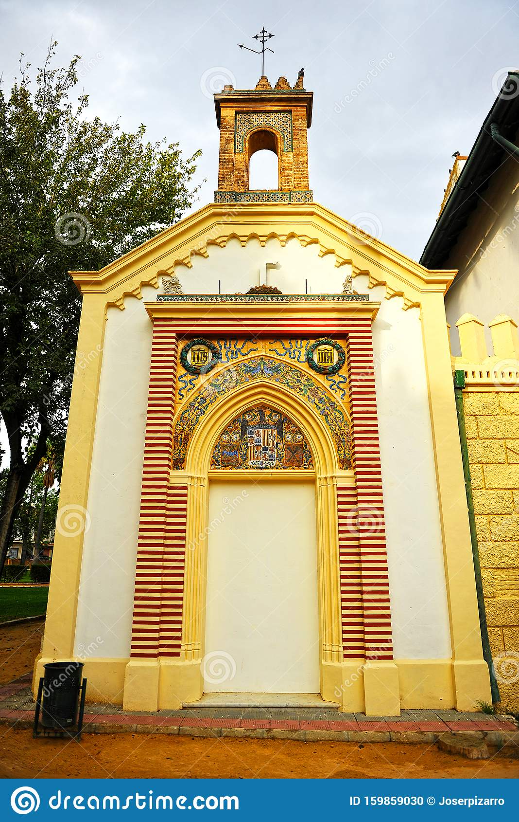 The Old Ibarra Chapel Located At The Park Of Alqueria In Dos Hermanas Province Of Seville Spain Stock Photo Image Of Hall Farmhouse 159859030