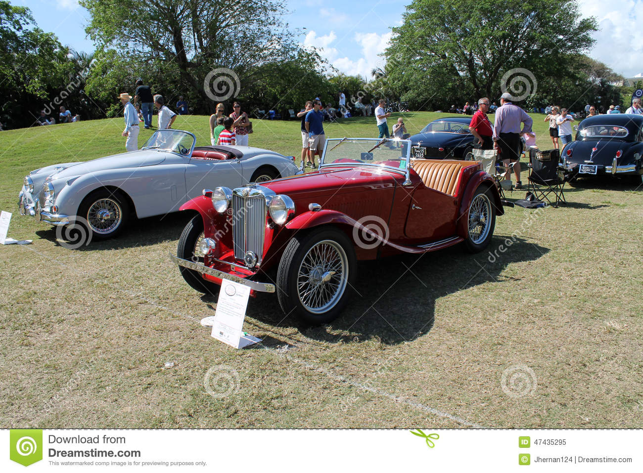 Red Old Car With An Open Top. Convertible. Stock Illustration ...