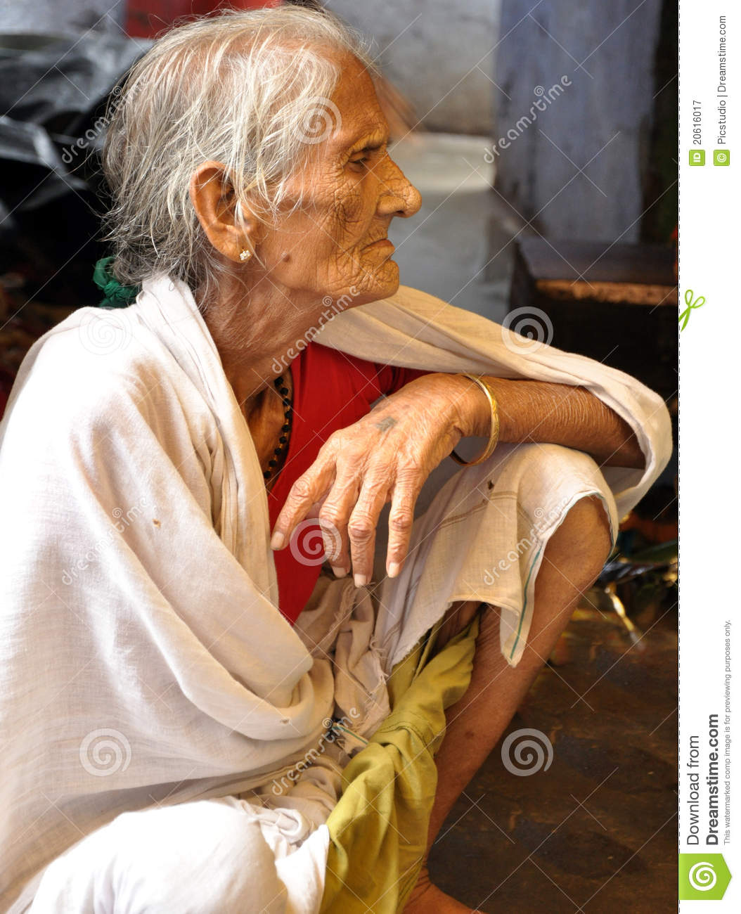 Old Indian Lady Stock Image Image Of Woman, Clothes -8776