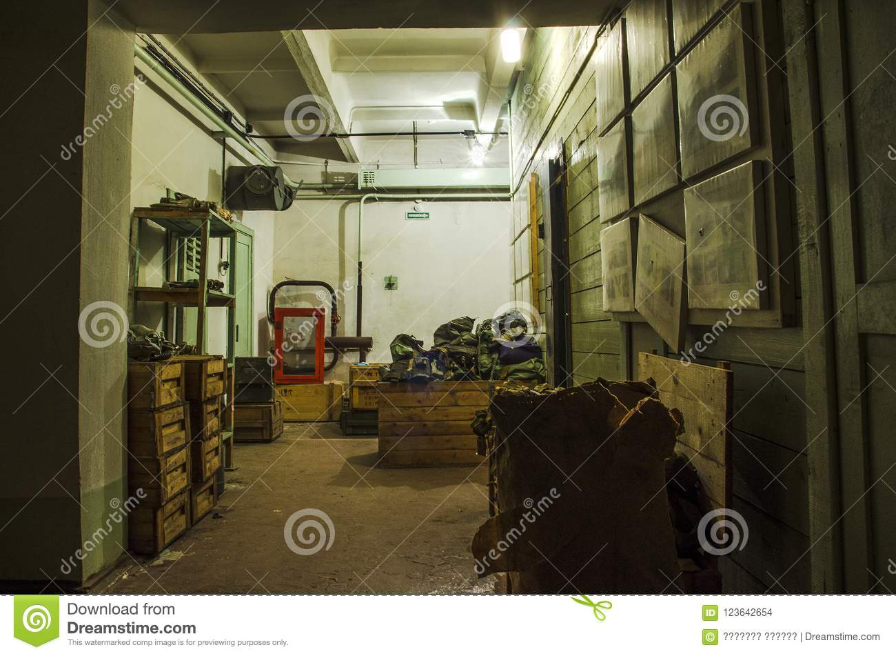 Old Industrial Filter Ventilation System In The Basement Of An Abandoned Bomb Shelter Stock Photo Image Of Respirators Shelter 123642654