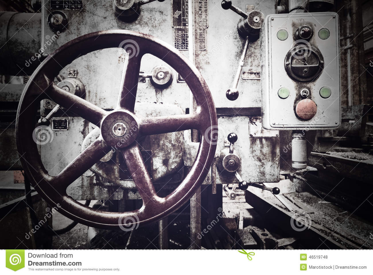 Old industrial machine stock photo  Image of rust, workshop