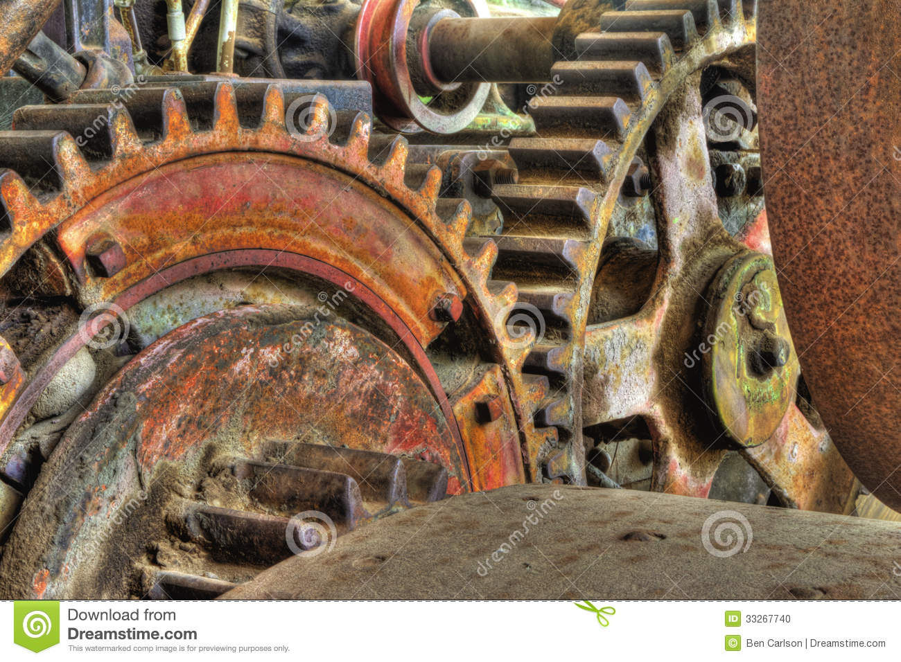 Old Industrial Machinery Gears Stock Photo - Image of ...