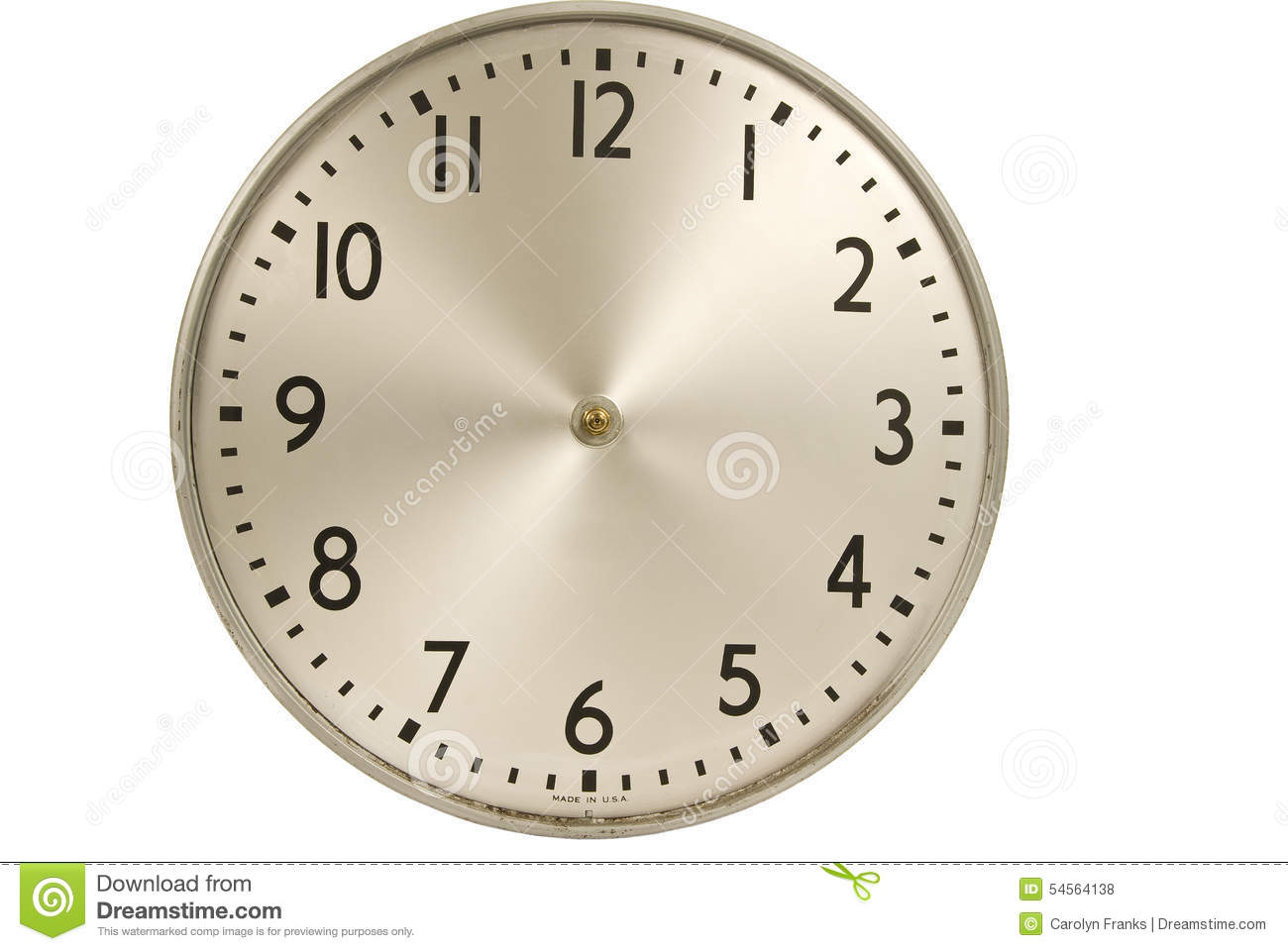 old industrial wall clock without hands stock photo