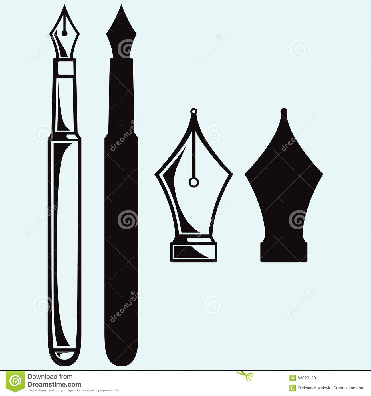 old ink pen stock vector. illustration of obsolete, education - 83029129  dreamstime.com