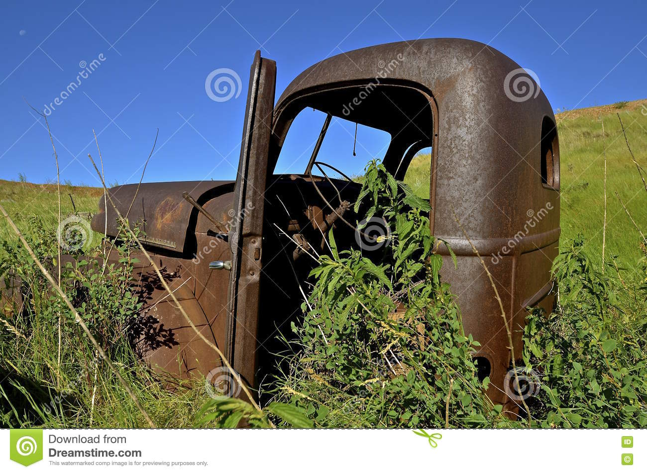 Old International Pickup Cab Editorial Stock Image - Image