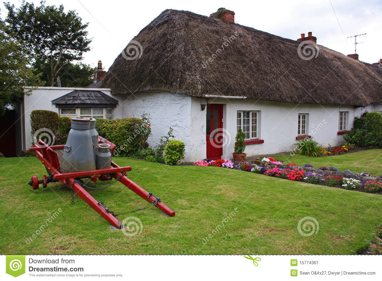 Old irish cottage stock image image 15774361 - Free garden plans ireland ...