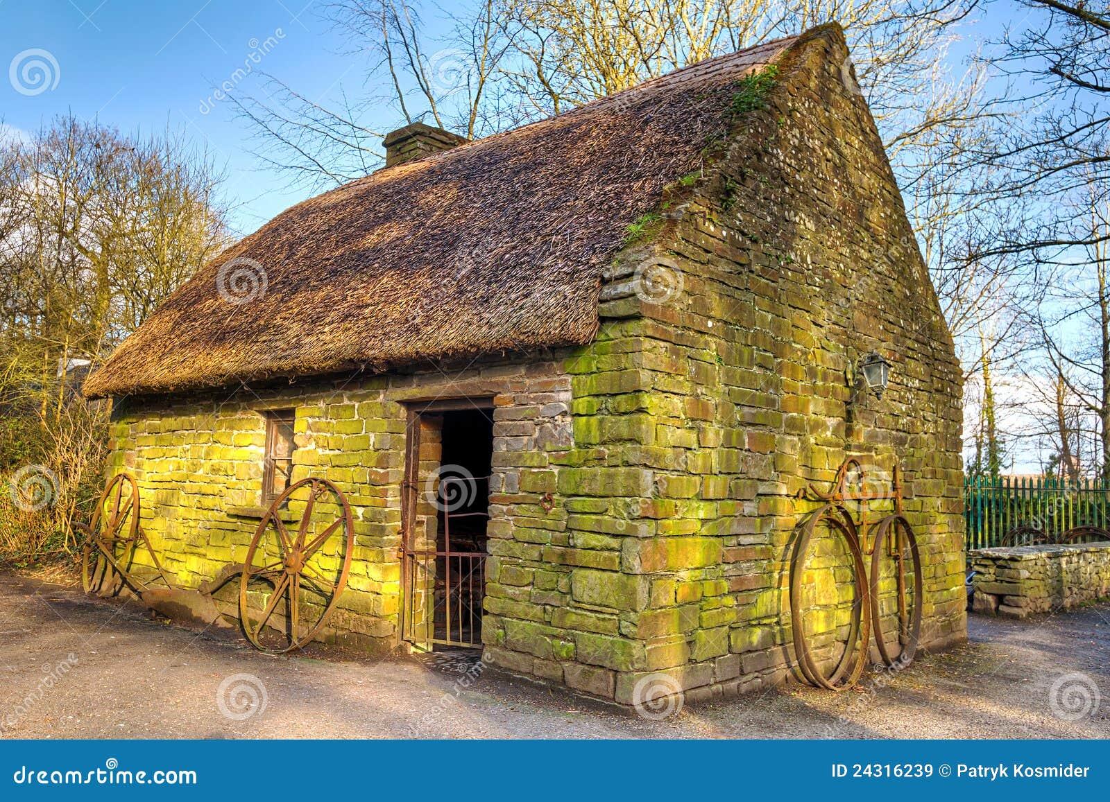 Old Irish Cottage House Royalty Free Stock Images Image
