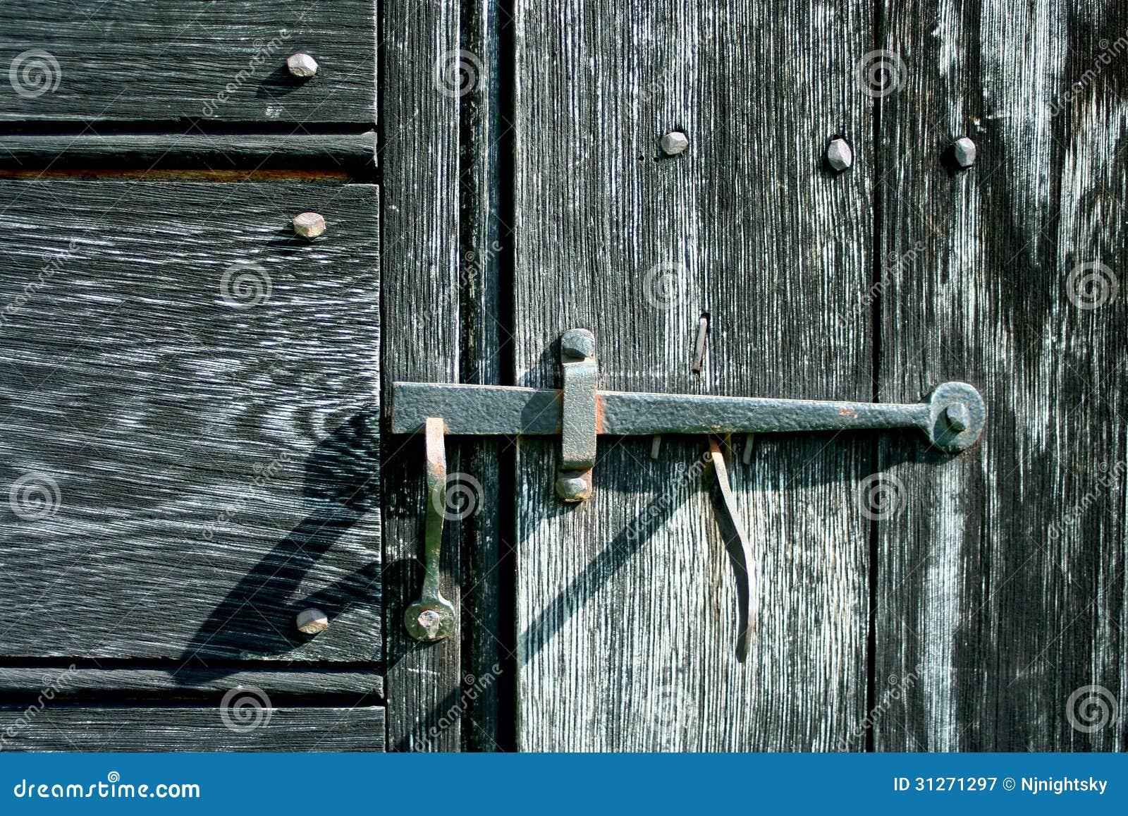 Old iron door latch - Old Iron Door Latch Stock Image. Image Of Door, Antique - 31271297