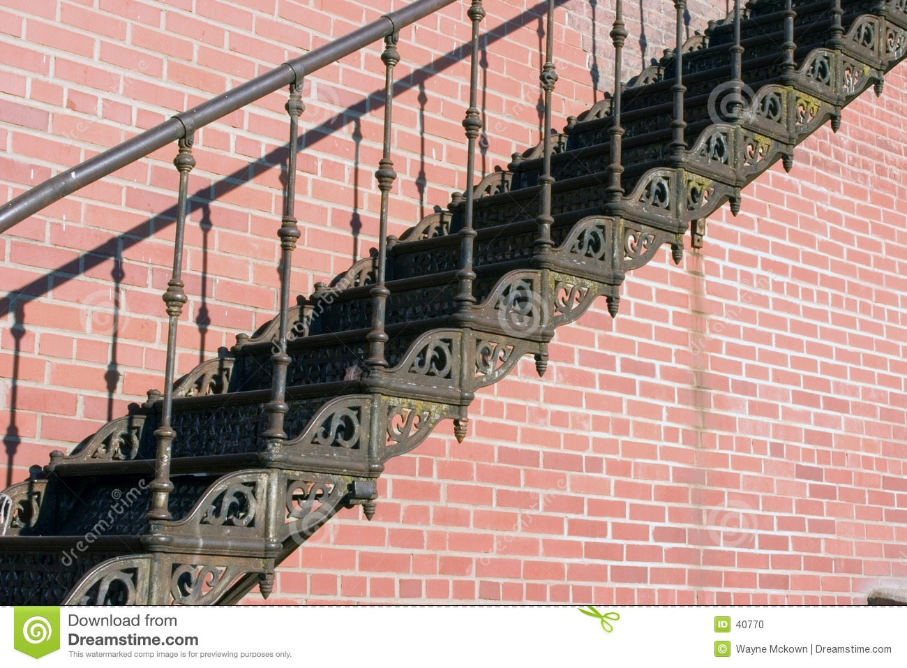 Old iron stairs
