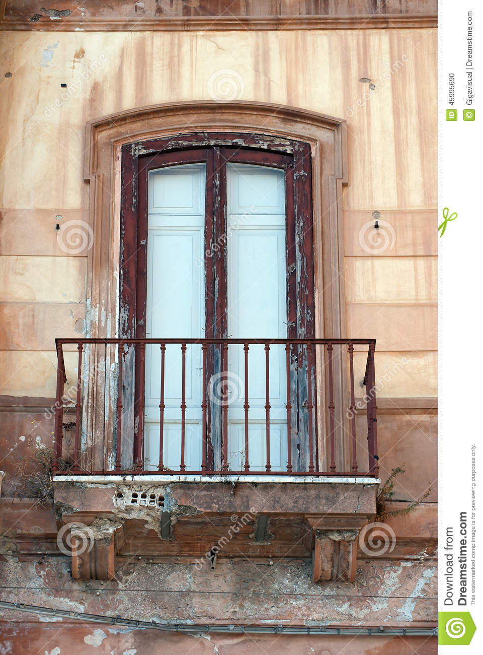 Old italian balcony stock photo image 45995690 for Italian balcony