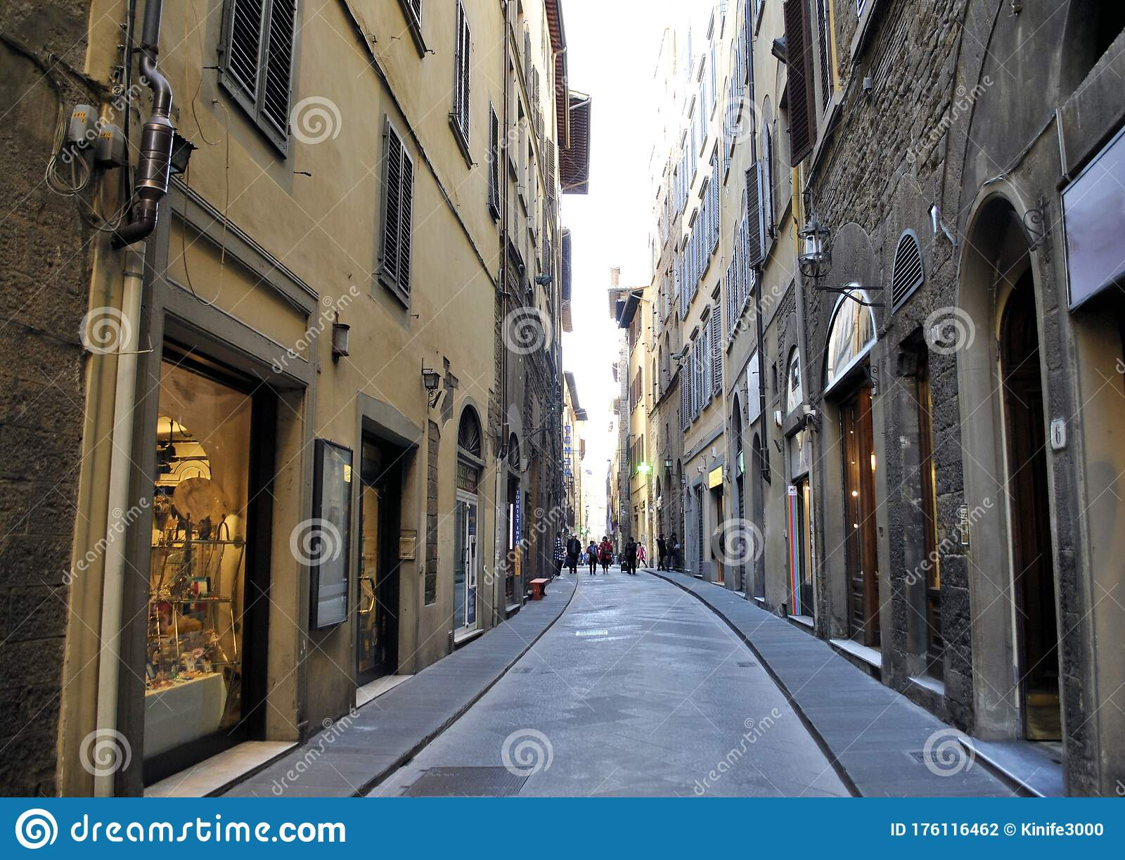Milan Italian Town Old Buildings Urban Panorama Cityscape Architecture History Narrow Ancient Street Background Editorial Photography Image Of Italy Houses 176116462