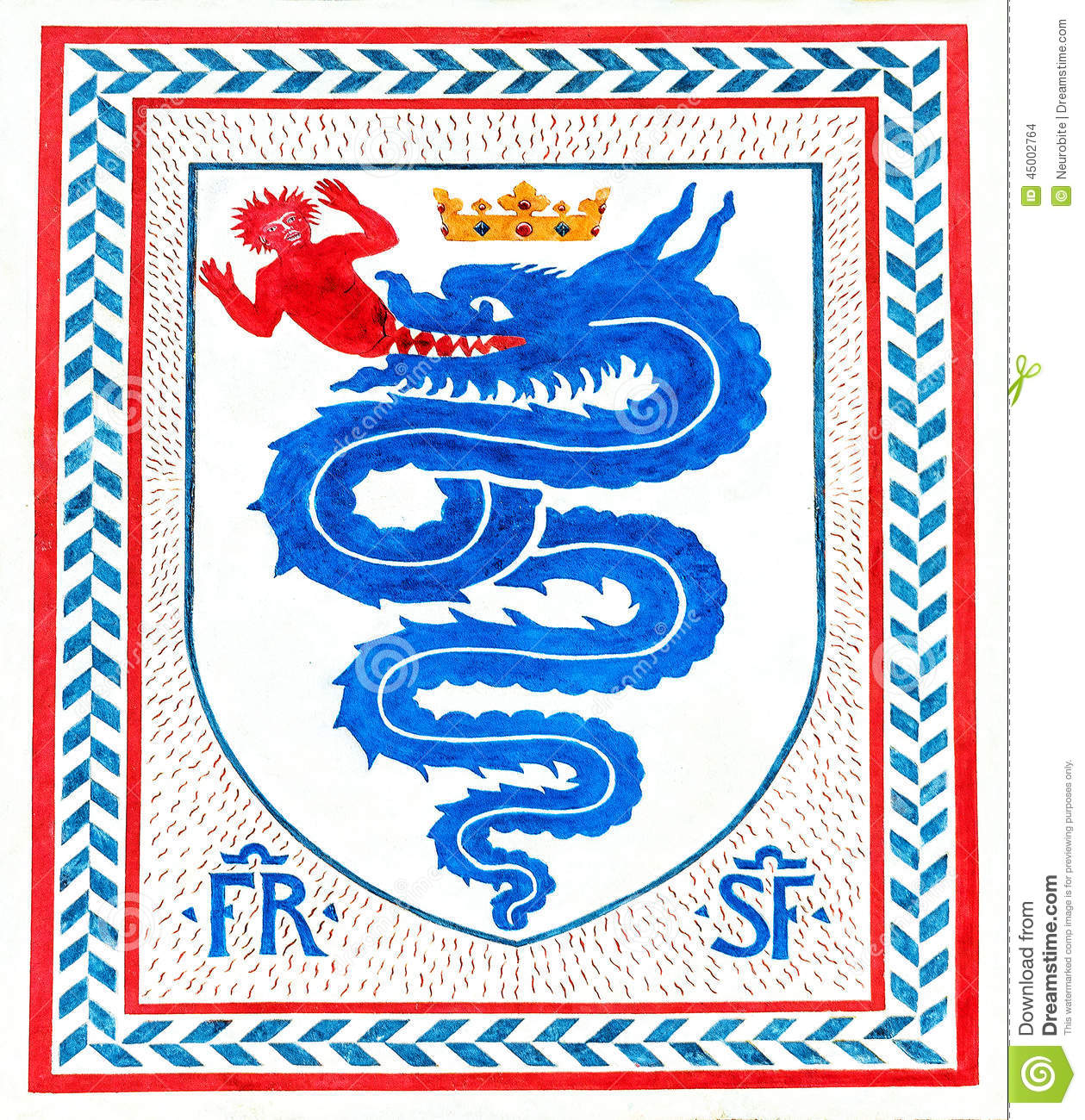 Italian handwritten postcard letter stock photo image 39254147 - Old Italian Coat Of Arms Of The Knight Order Milan Italy Stock Images