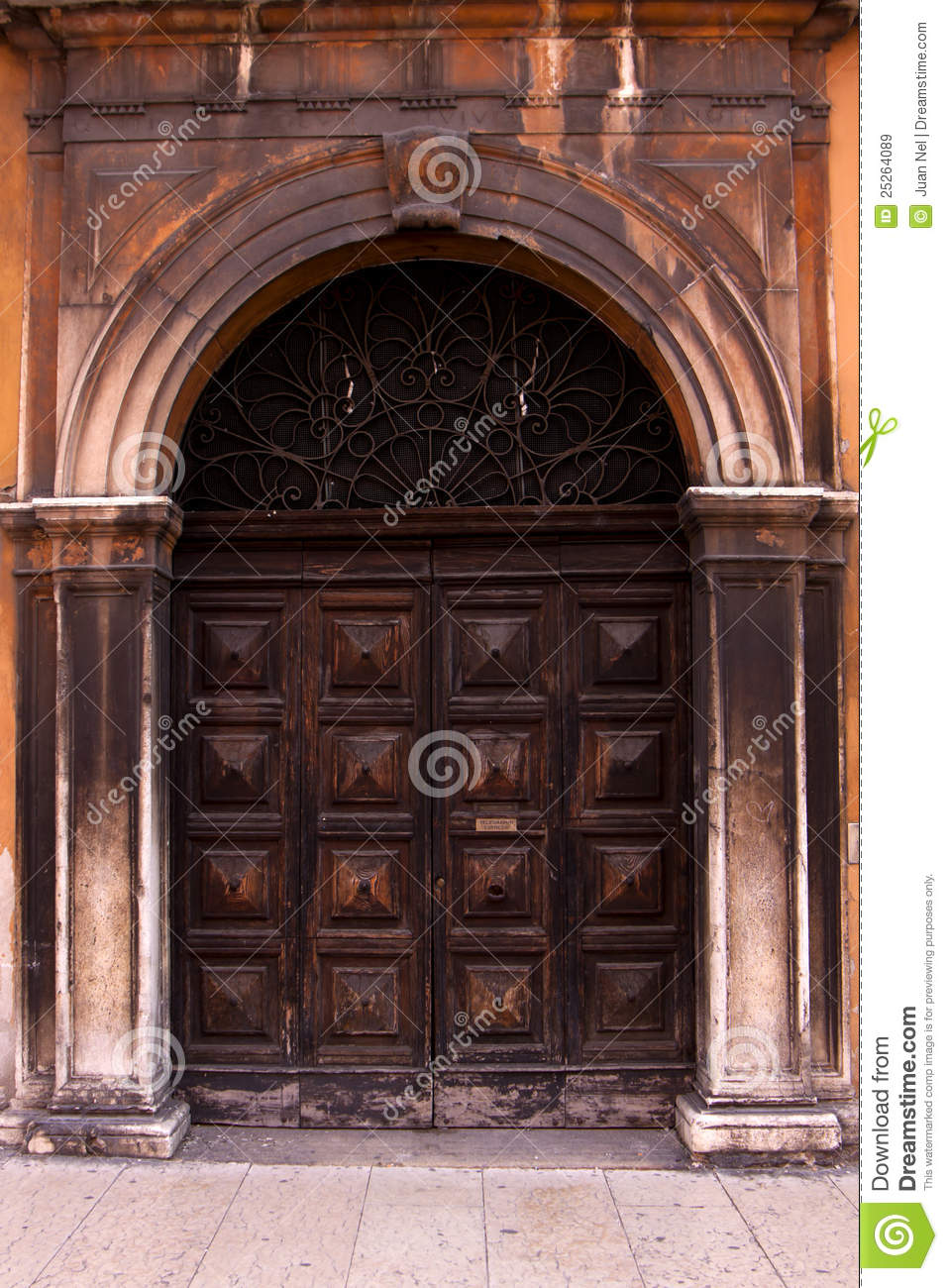 old italian door  stock image  image of european  elegant