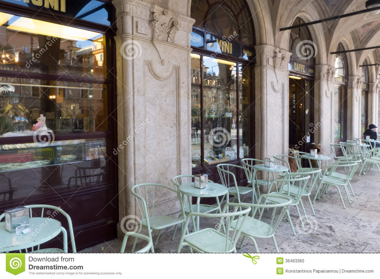 Old Italian Pastry Shop And Coffee Bar Editorial Image