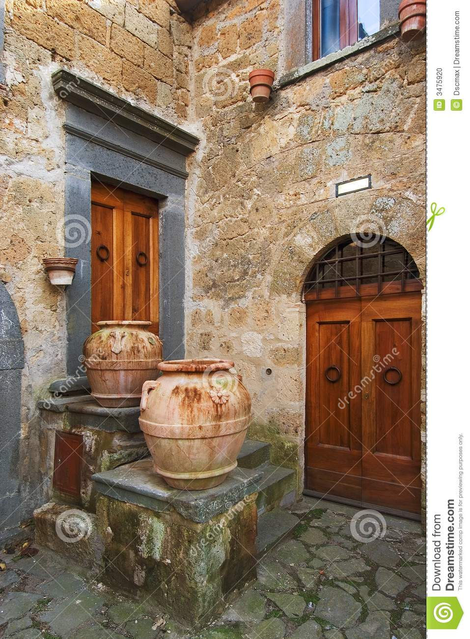 Old italian town corner stock photo image of italy for Classic italian house