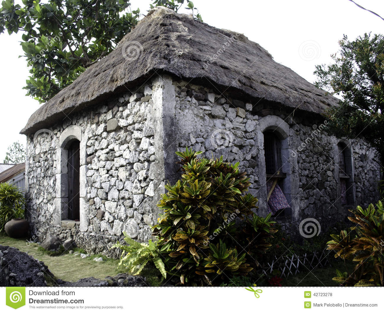 Old ivatan house batanes philippines stock photo image for Classic house design philippines