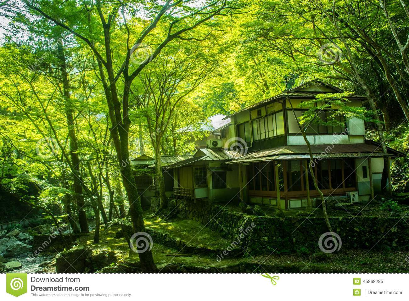 Old Japanese House In The Forest Stock Photo Image 45868285