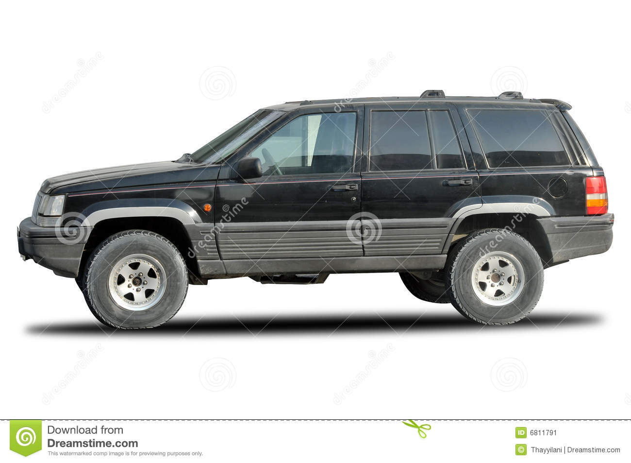 2001 Jeep Grand Cherokee Motor Old Jeep Cherokee 4x4 stock image. Image of fast, isolated ...