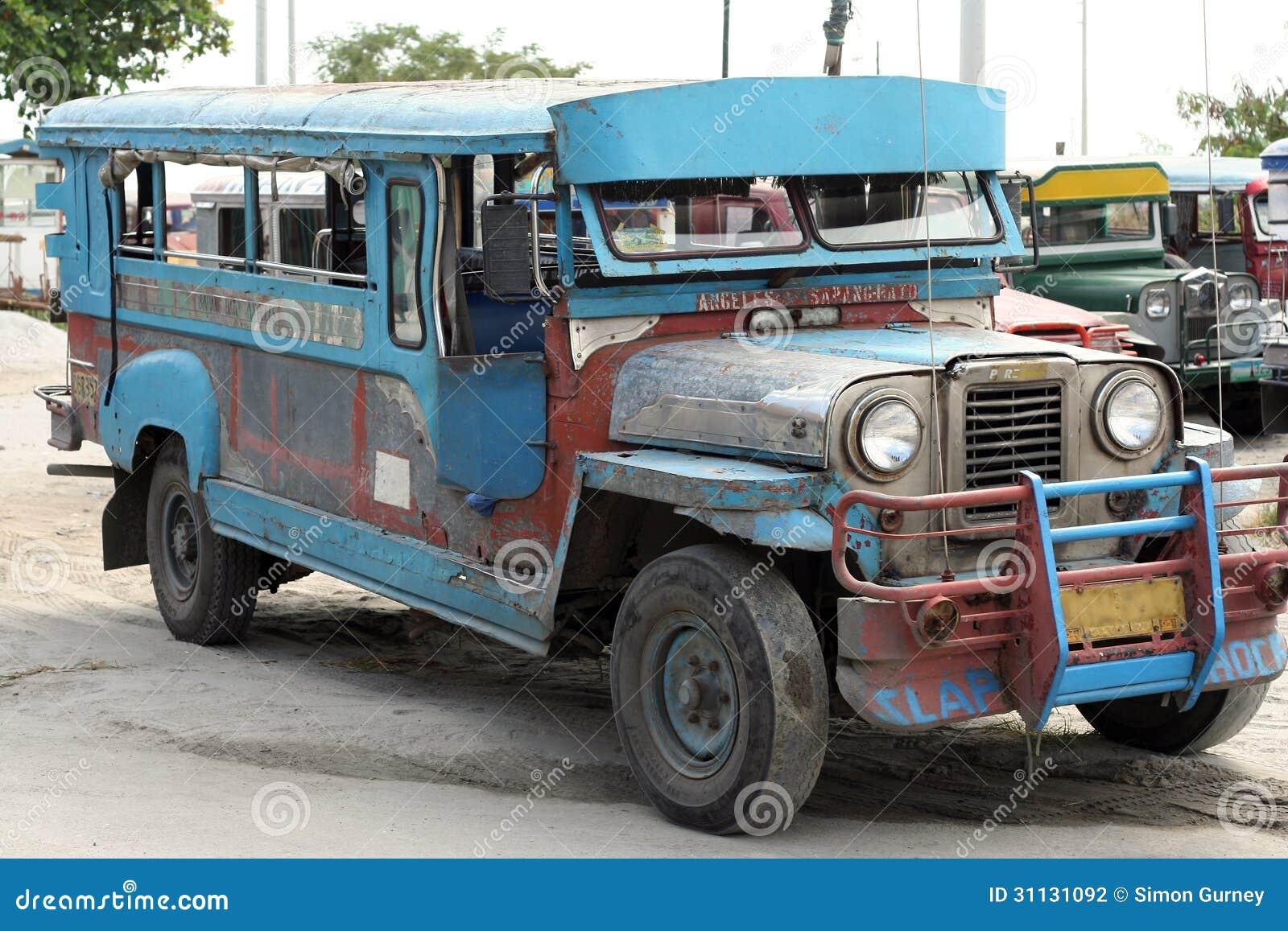 Old Jeepney Bus Angeles Sapangbato Philippines Editorial