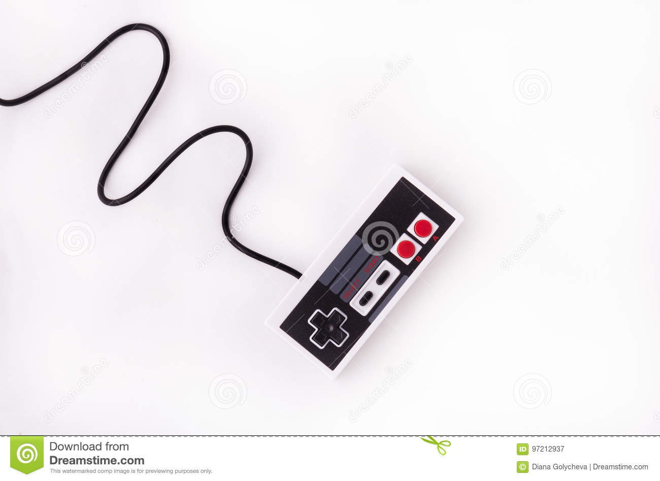 Old Joystick On A White Background  Video Game Console