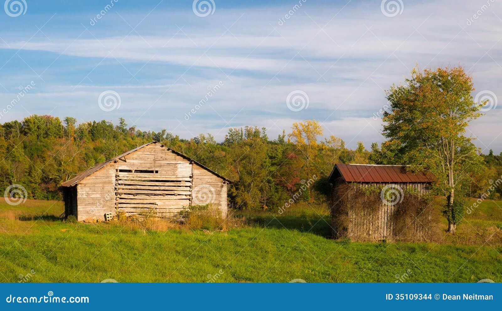 Old Kentucky Barn Stock Photo Image Of Autumn Trees